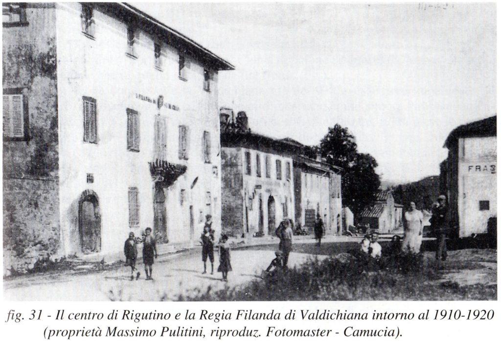 Villa Dini, Centro Rigutino 1920