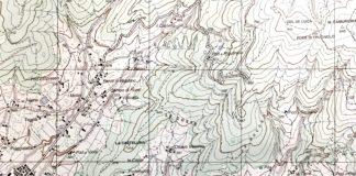 Cammino Alla Traccia Vitiano, carta topografica