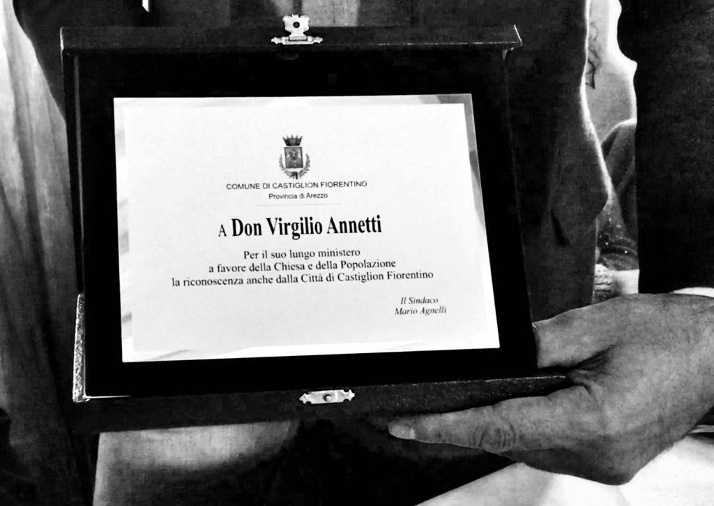 Comune di Castiglion Fiorentino Ringrazia Don Virgilio