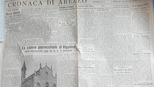 DUE SOLENNI GIORNATE [1936]: L'INAUGURAZIONE DELLA CHIESA PARROCCHIALE DI RIGUTINO. 1