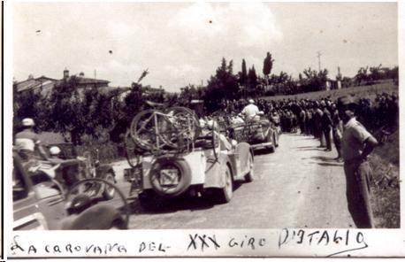 Giro d'Italia del 1947 alla curva di Vitiano