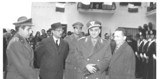 19 dicembre 1965: Inaugurazione caserma carabinieri di Rigutino e consegna della Bandiera.