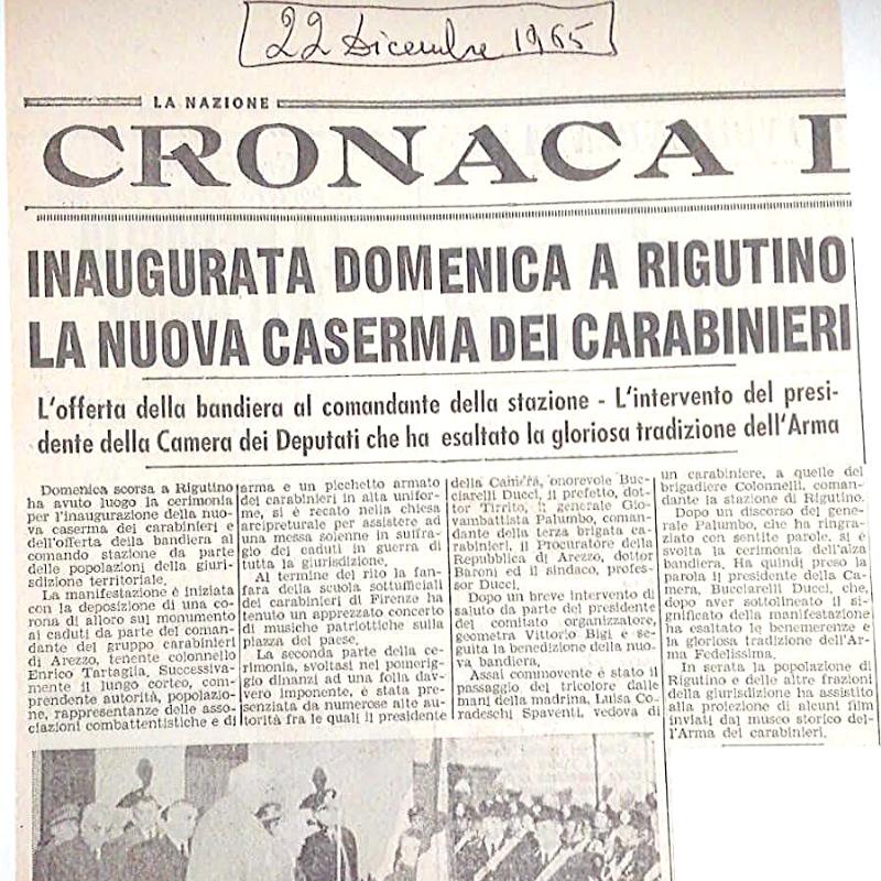 Nuova Caserma Carabinieri a Rigutino
