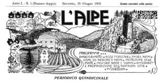 Pro Montibus Sylvis - Testata del primo numero della rivista L'Alpe