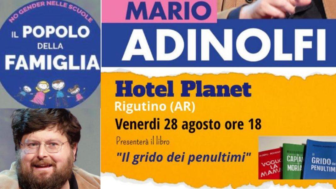 Mario Adinolfi Hotel Planet Popolo della Famiglia