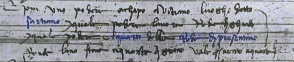Catasto 1427 - Sartiano di Vitiano