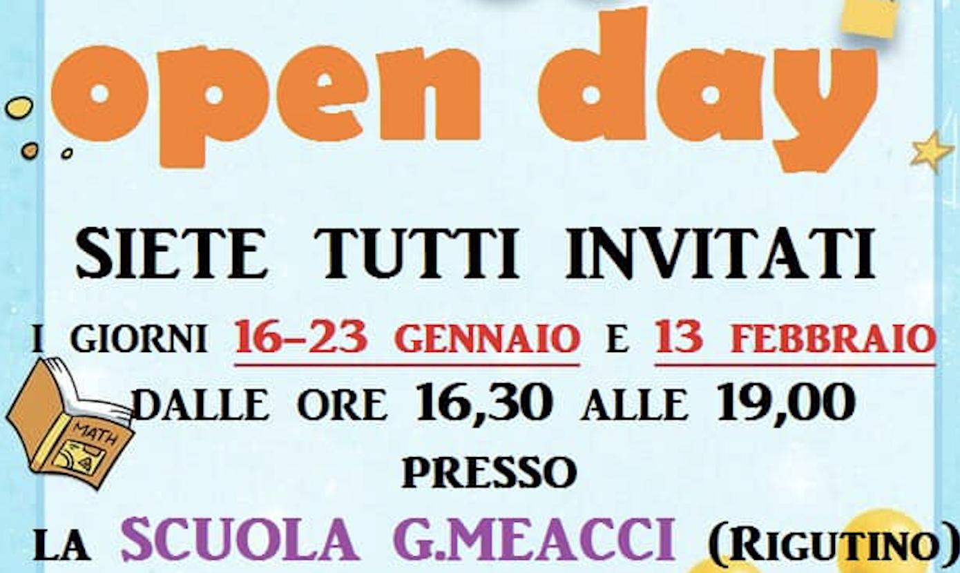 Open Day 2021 Scuola dell'Infanzia G. Meacci. 7