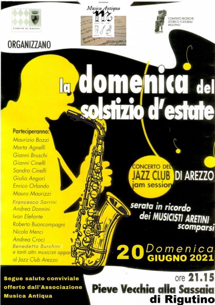 Jazz Club Arezzo in concerto alla Pieve di Rigutino: la jam session del solstizio d'estate. 12